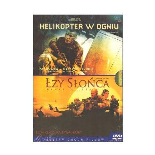 Podwójne dvd: helikopter w ogniu + łzy słońca marki Imperial cinepix / columbia tristar / sony pictures