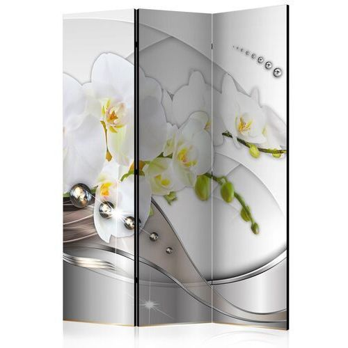 Parawan 3-częściowy - perłowy taniec orchidei [room dividers]