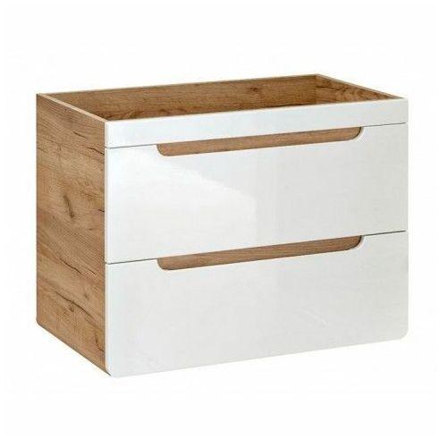 Szafka pod umywalkę borneo 6x z szufladami 60 cm - biały połysk marki Producent: elior