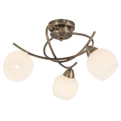 Plafon lampa sufitowa evangeline 3x40w e14 antyczny brąz 7119 marki Rabalux