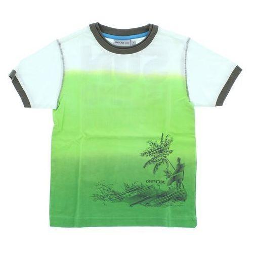 Geox T-shirt dziecięcy Zielony Biały 5 lat