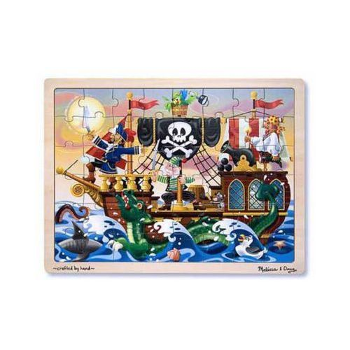 Melissa & doug Puzzle drewniane pirate adventure jigsaw (48pc) 13800 (0000772138000)