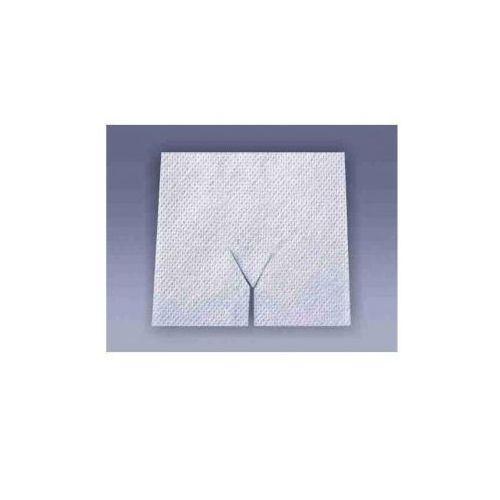Tzmo sa Kompres z włókniny 7,5 x 7,5 cm z wycięciem y tracheotomijne matovlies, 4 warstwy, jałowe (2szt.)