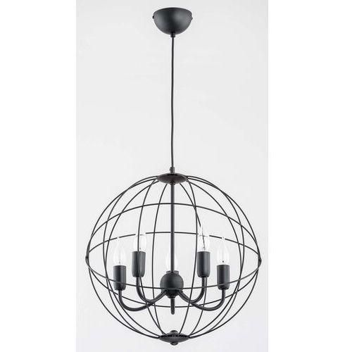 Alfa Nosferatu 60187.40 lampa wisząca zwis 5x40W E14 czarna (5900458601871)
