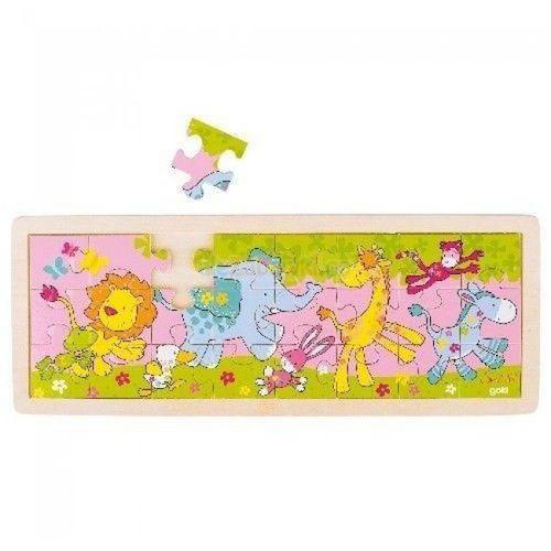 Drewniane puzzle motyw Bajkowe zwierzątka, Goki 57507, GOKI-57507