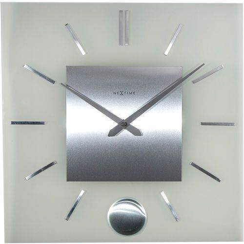 Zegar ścienny z wahadłem Stripe Nextime 40 x 40 cm (3146) (8717713016229)
