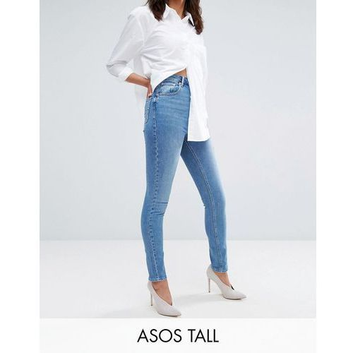Asos tall  farleigh high waist slim mom jeans in prince wash - blue