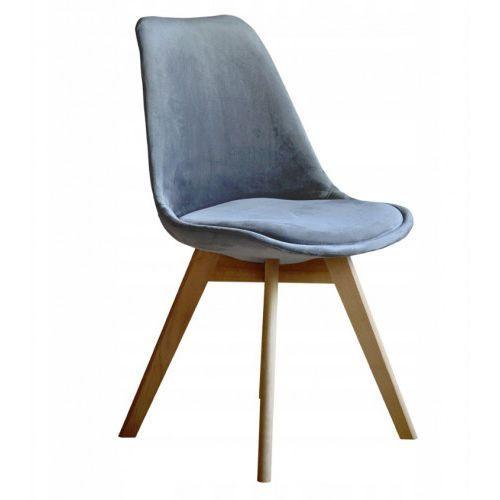 Nowoczesne krzesło art132c materiałowe popiel welur marki Meblemwm
