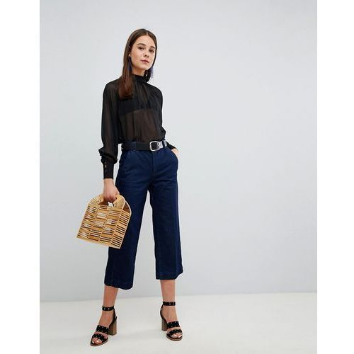 New Look Wide Leg Crop Jeans - Blue, kolor niebieski