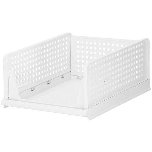 Organizer do szafy 18,5 cm wielofunkcyjny pojemnik na ubrania biały