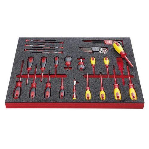 Zestaw narzędzi ELECTRONIC,wkrętak elektroniczny i wyposażenie dodatkowe, 39-częściowy, we wkładce z twardej pianki