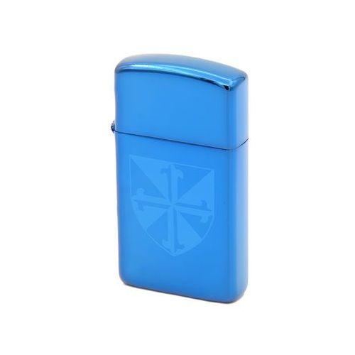 Zapalniczka ZIPPO Slim Sapphire Pudełko prezentowe z akcesoriami GRAWER