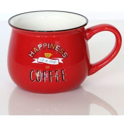 Kubek HAPPINESS COFFEE – wyjątkowe naczynie z uroczym nadrukiem, pomysłowy prezent podarunek na każdą okoliczność