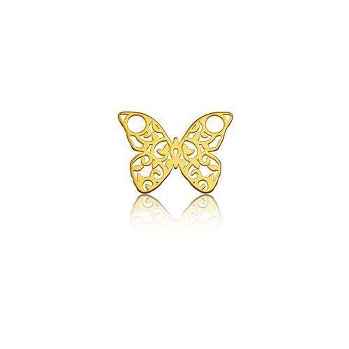 925.pl Blaszka celebrytka motyl - ażurowa, złoto próba 585