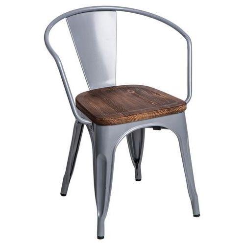 Krzesło Paris Arms Wood sosna - srebrny (5902385715034)