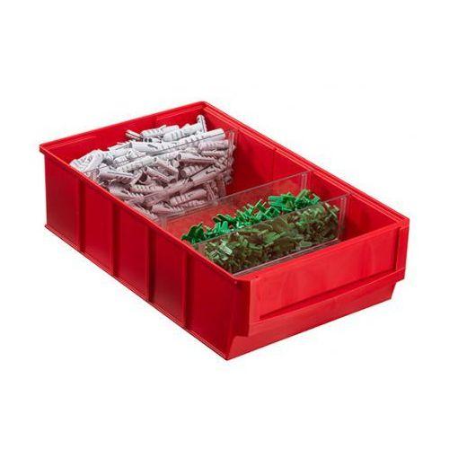 Allit Plastikowy pojemnik do regału shelfpoj., 183 x 300 x 81 mm, czerwony
