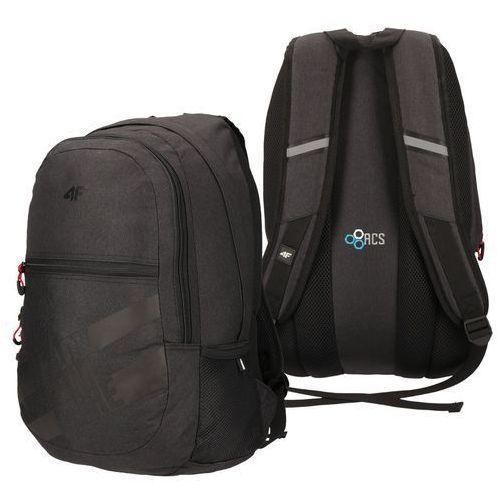 Plecak sportowy szkolny miejski z18 pcu004 30l czarny melanż marki 4f