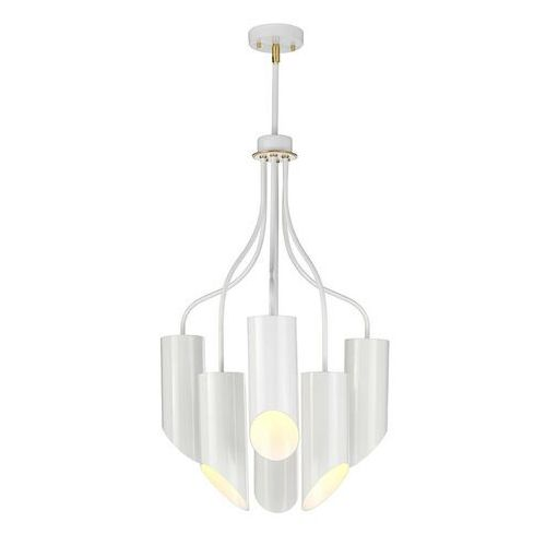 Lampa wisząca quinto 6-punktowa, biała/mosiężna marki Elstead
