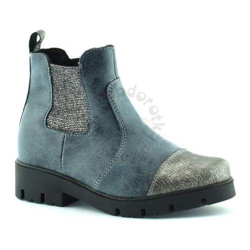 Zimowe botki dziewczęce marki Kornecki 06011, kolor niebieski