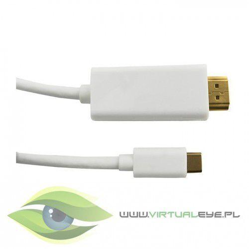 Qoltec Kabel DisplayPort Alternate mode | USB 3.1 typC męski / HDMI męski | 4Kx2K | 2m