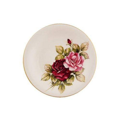 Mieroszów 6 ceramicznych talerzy deserowych róża