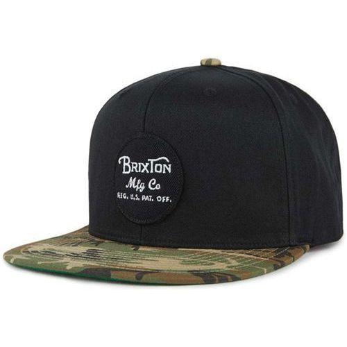 czapka z daszkiem BRIXTON - Wheeler Snapback Black/Camo (BKCAM) rozmiar: OS, kolor czarny