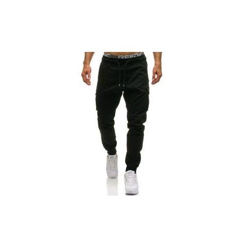 Spodnie męskie joggery bojówki czarne Denley 0705, bojówki