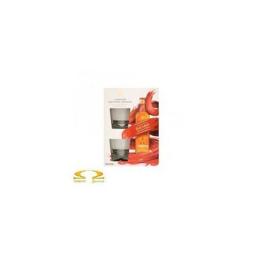 Johnnie walker Whisky  red label 0,7l limitowana edycja + 2 szklanki