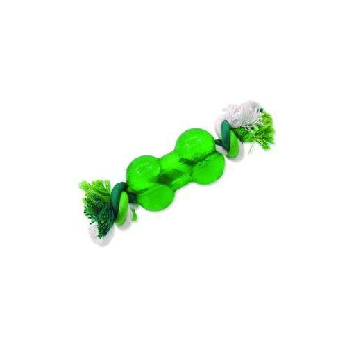 Plaček Zabawka dog fantasy strong mint kość gumowa na sznurze zielona 8,9 cm