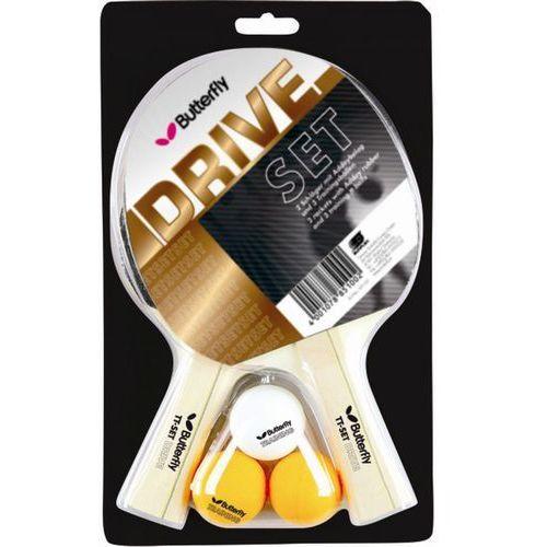 Zestaw 2 rakietek do tenisa stołowego BUTTERFLY DRIVE, T-0028