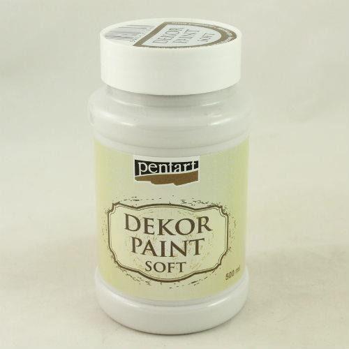 Farba dekor paint soft 500 ml - porcelanowa - porce marki Pentart