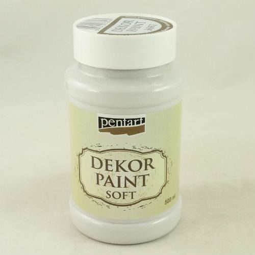 Pentart Farba dekor paint soft 500 ml - porcelanowa - porce