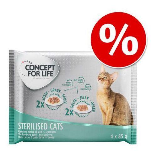 Pakiet próbny Concept for Life - 4 x 85 g w super cenie! - Sterilised - 2 x w sosie, 2 x w galarecie