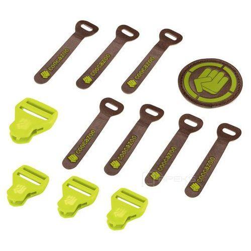 matchpatch leather limepunch melange zestaw elementów wymiennych - zielony ||żółty ||brązowy marki Coocazoo