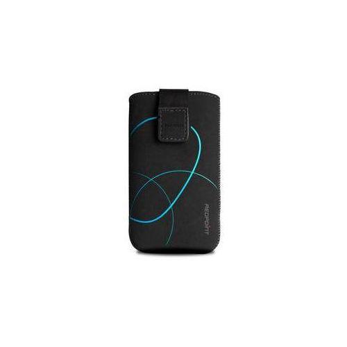 Etui na komórkę FIXED Velvet Stripe Blue, 3XL (RPVEL-036-3XL) Czarne, towar z kategorii: Futerały i pokrowce do telefonów