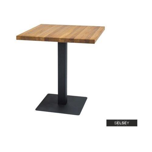 Selsey stół divock 70x70 cm z litego drewna dębowego (5903025264882)