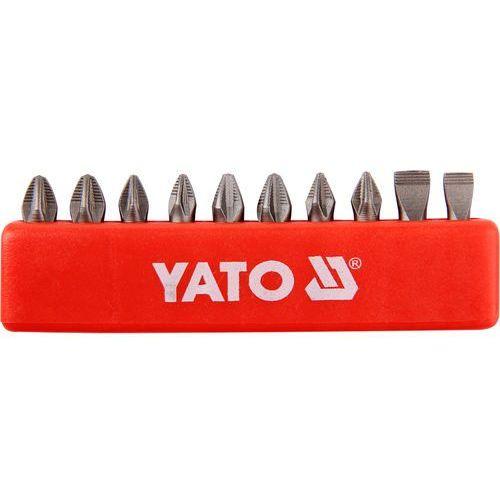 Końcówki wkrętakowe 25 mm, mix, kpl 10 szt. Yato YT-0482 - ZYSKAJ RABAT 30 ZŁ, YT-0482
