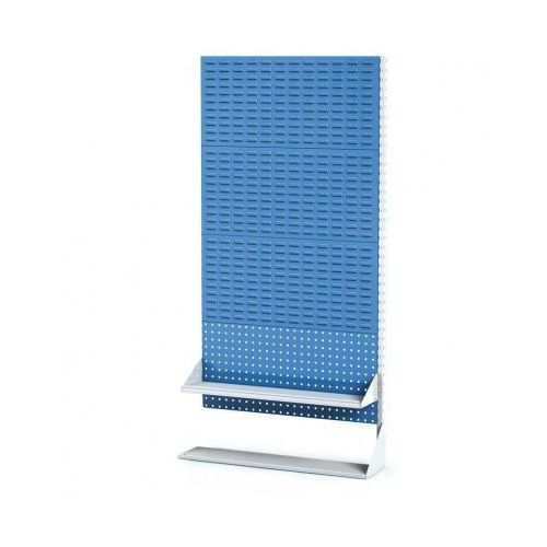 Perforowany stojak z panelem na pojemniki, narzędzia i półkę 4 piętra, dostawne pole