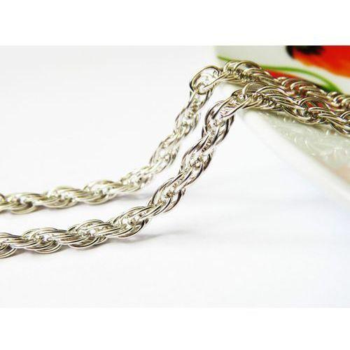 Srebrny łańcuszek spirala