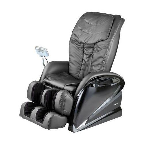 Fotel do masażu inSPORTline Sallieri czarny, Ciemny brązowy