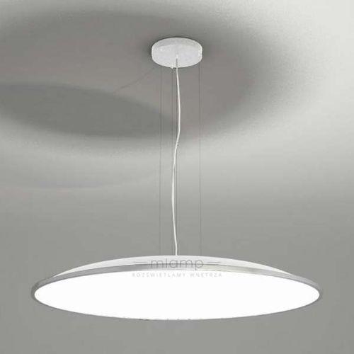 Wisząca LAMPA minimalistyczna WANTO 5524-B/E27/BI Shilo okrągła OPRAWA zwis biały, kolor Biały