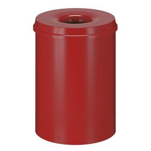 Kosz na papier, samogaszący, poj. 30 l, korpus czerwony / głowica gasząca czerwo marki Vepa bins
