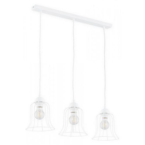 Lemir Dzwonek O2713 W3 BIA lampa wisząca zwis 3x60W E27 biały mat (5902082867579)