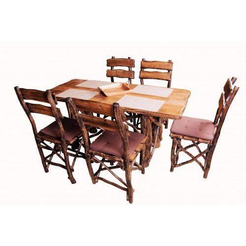 Zestaw stół dębowy + krzesła dębowe RUSTICA