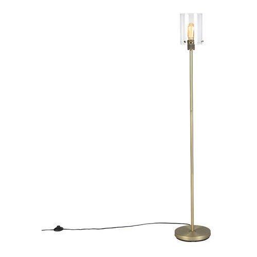 Nowoczesna lampa podłogowa złota ze szkłem - Dome