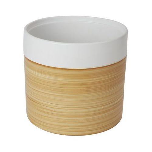 Goodhome Doniczka ceramiczna ozdobna 24 cm efekt drewna (3663602441021)