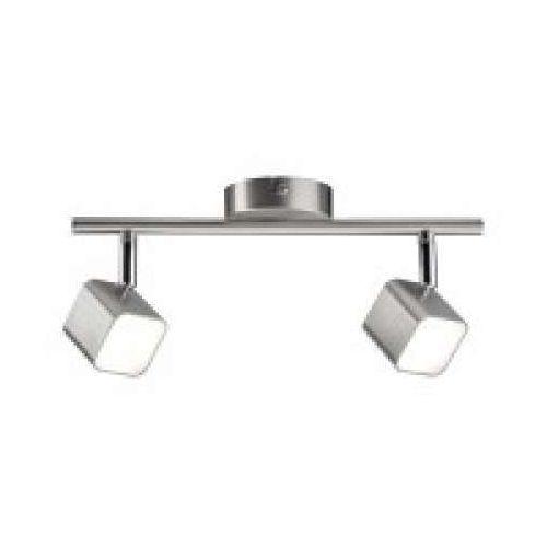 Reflektor led cubik 2 lampy 2x4 w żelazko szczotkowane, 66737 marki Paulmann