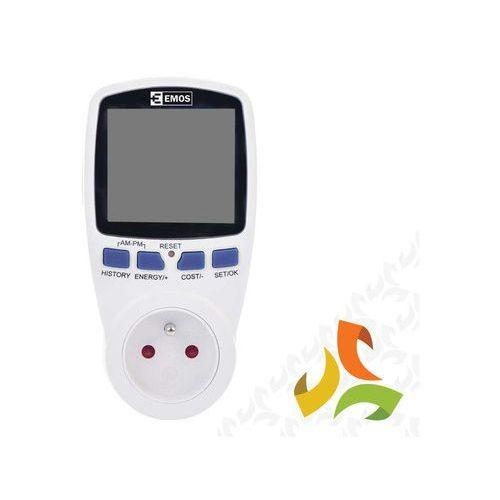 Watomierz, cyfrowy licznik energii do gniazdka P5801 EMOS, 1911000010/EMO