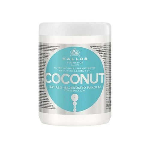Kallos nutritive-hair strengthening mask coconut, 1000 ml. odżywczo-wzmacniająca maska do włosów