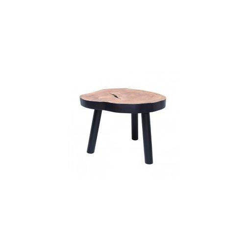 Stolik w kształcie pnia drewna L czarny - HK Livin, HAP6205